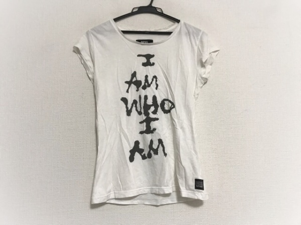 DIESEL(ディーゼル) 半袖カットソー サイズXS レディース美品  白×黒 ダメージ加工