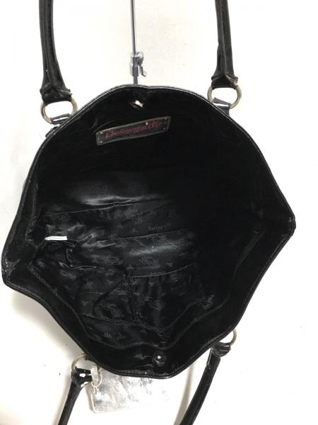 ベッツィーヴィル トートバッグ シルバー×黒×ライトグレー 化学繊維×合皮