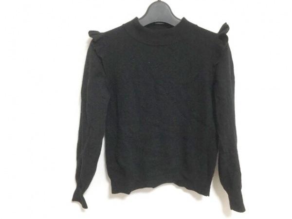 Maglie par ef-de(マーリエ) 長袖セーター サイズ7 S レディース 黒 フリル