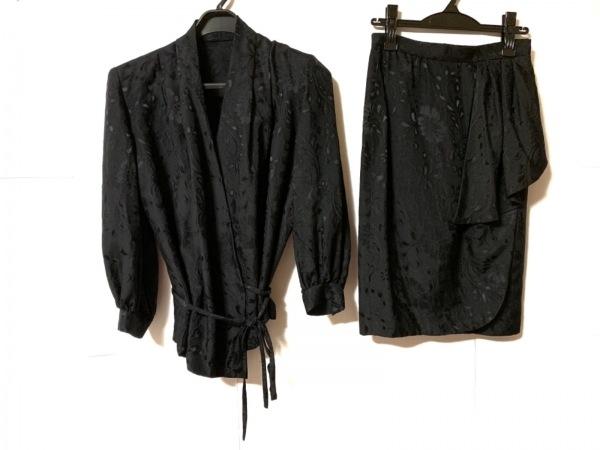 クリスチャンディオール スカートスーツ サイズ9 M レディース美品  黒 肩パッド