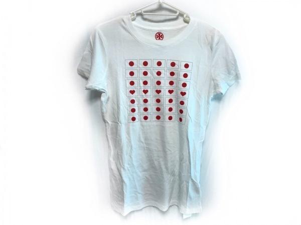 TORY BURCH(トリーバーチ) 半袖Tシャツ サイズS レディース美品  白×レッド×黒