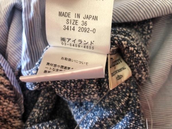 ダイアグラム 長袖セーター サイズ36 S レディース美品  アイボリー×グレー×マルチ