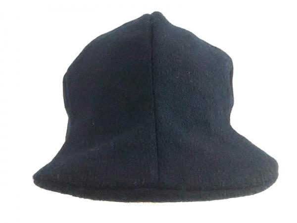 【中古】 カシラ CA4LA 帽子 黒 ウール ナイロン