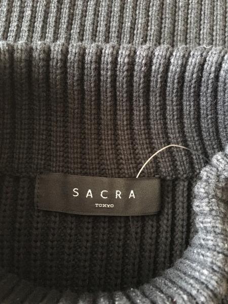 SACRA(サクラ) ノースリーブセーター サイズ38 M レディース 黒 ハイネック