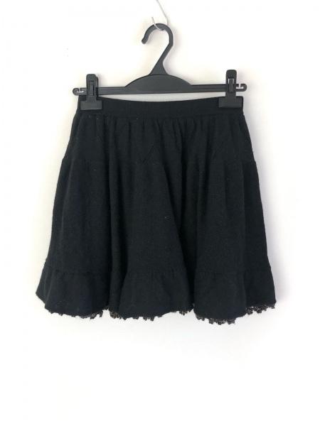 Chesty(チェスティ) スカート サイズF レディース 黒×ゴールド ニット