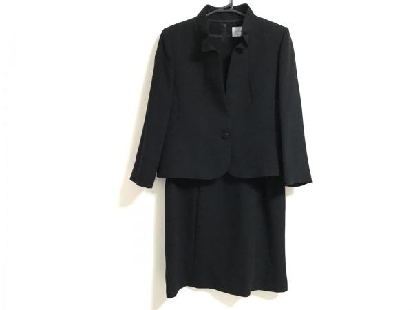 SOIR PERLE(ソワール ペルル) ワンピーススーツ サイズ13 L レディース美品  黒