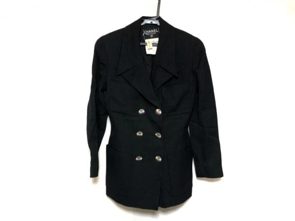 CHANEL(シャネル) ジャケット サイズ36 S レディース美品  黒 肩パッド/ダブル