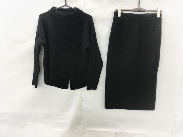 COMME CA ISM(コムサイズム) スカートセットアップ サイズ9 M レディース 黒 ニット