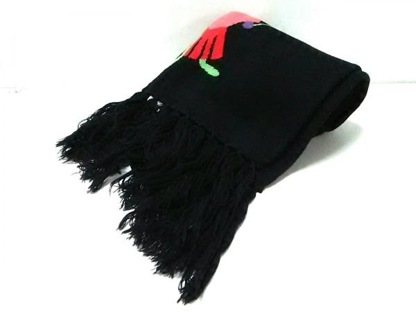 cacharel(キャシャレル) マフラー新品同様  黒 化学繊維