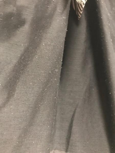 UNTITLED(アンタイトル) ワンピース サイズ44 L レディース 黒×白 斜めストライプ