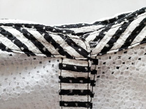 PICONE(ピッコーネ) ノースリーブシャツブラウス サイズ2 M レディース 白×黒