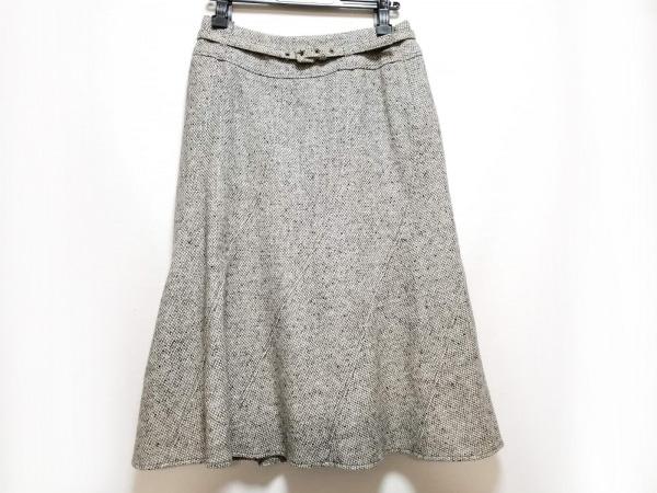 マックスマーラ ロングスカート サイズ40 M レディース美品  グレー×アイボリー