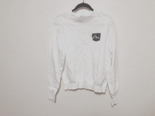 EVISU(エヴィス) 長袖カットソー サイズ38 M メンズ美品  白×ネイビー