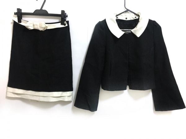 TO BE CHIC(トゥービーシック) スカートスーツ サイズ40 M レディース 黒×白 リボン
