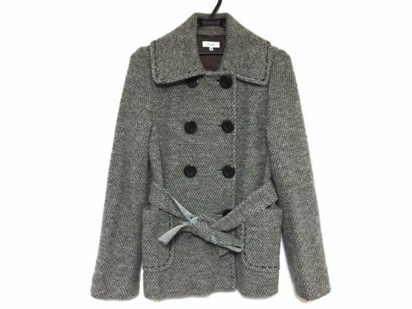 Scapa(スキャパ) Pコート サイズ40 XL レディース グレー×ライトグレー 冬物