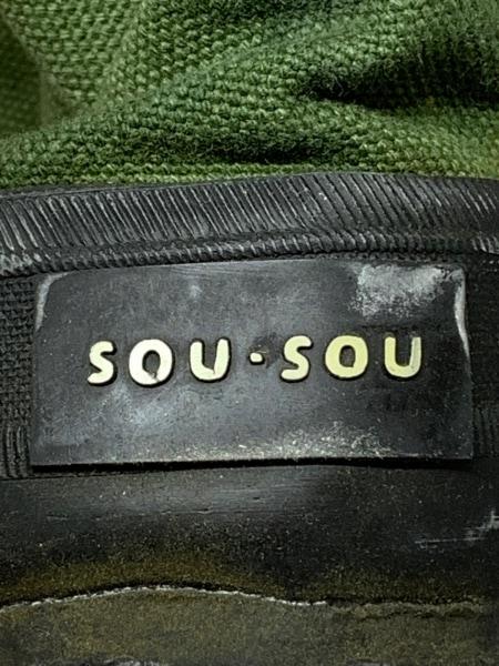 SOU・SOU(ソウソウ) 靴 レディース カーキ×黒 キャンバス