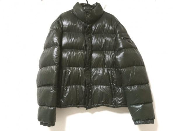 プラダスポーツ ダウンジャケット サイズ52 L メンズ美品  ダークグリーン 冬物