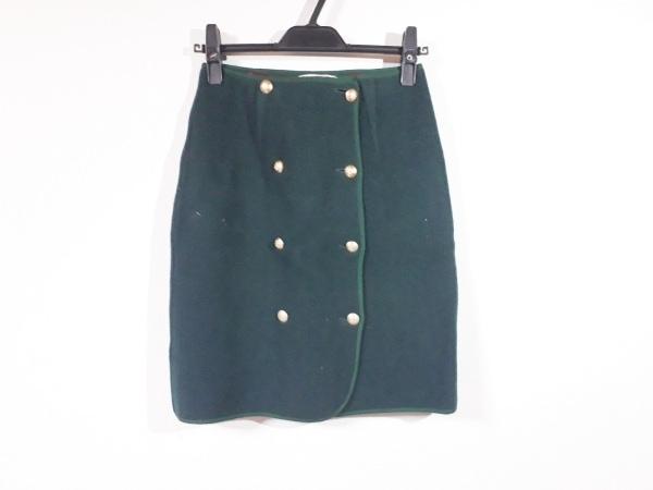 ヨークランド 巻きスカート サイズ9AR S レディース ボルドー×グリーン×マルチ
