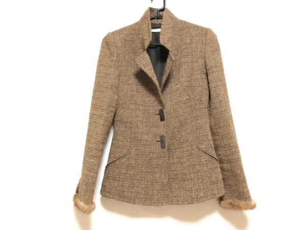 バレンチノ ジャケット サイズ6 M レディース ブラウン×ベージュ×ダークブラウン