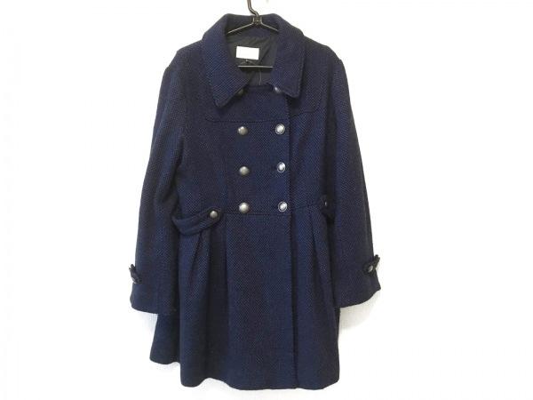 OTTO(オットー) コート サイズL レディース 黒×ブルー 冬物