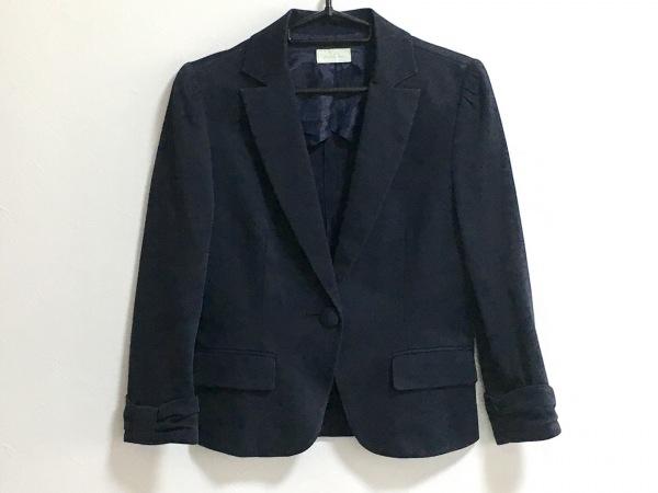 enrecre(アンレクレ) ジャケット サイズ38 M レディース ネイビー リボン