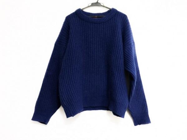 カンタベリーオブニュージーランド 長袖セーター サイズL メンズ美品  ブルー 冬物