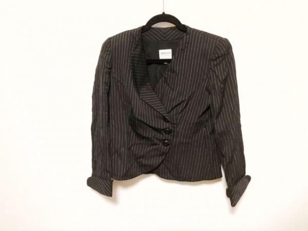 アルマーニコレッツォーニ ジャケット サイズ42 M レディース美品  黒×白