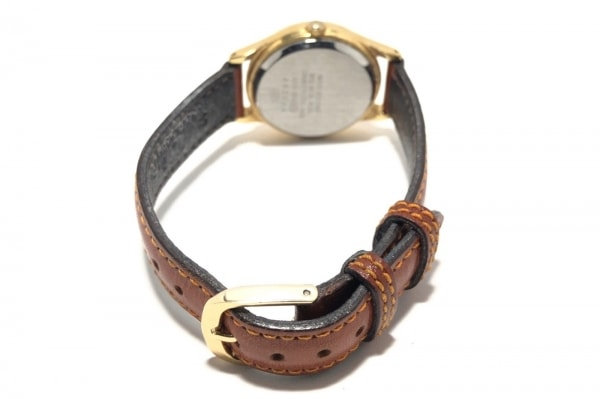 ALBA(アルバ) 腕時計 V811-1890 レディース 革ベルト/ディズニー ゴールド