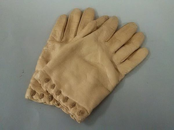 MADOVA(マドヴァ) 手袋 7 1/2 レディース ベージュ レザー×カシミヤ