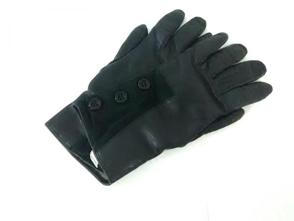 MADOVA(マドヴァ) 手袋 7 1/2 レディース 黒 レザー×カシミヤ
