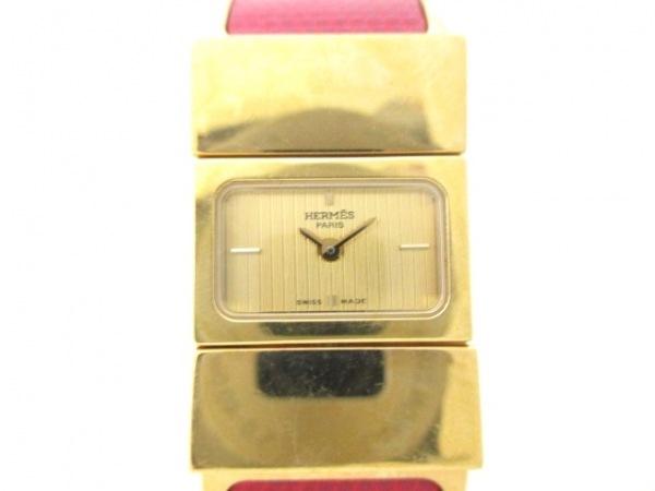 HERMES(エルメス) 腕時計 ロケ L01.201 レディース 革ベルト ゴールド