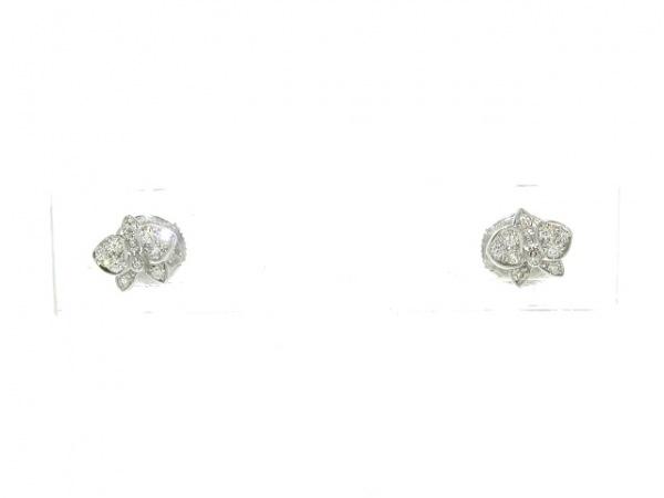 カルティエ ピアス美品  カレスドルキデパルXS B8043800 K18WG×ダイヤモンド
