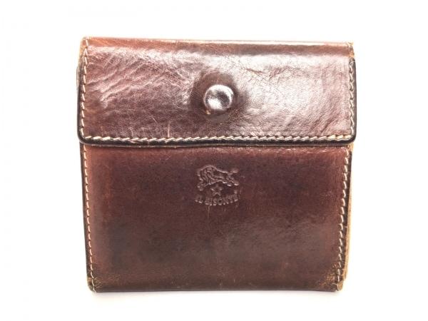 IL BISONTE(イルビゾンテ) 3つ折り財布 ブラウン レザー