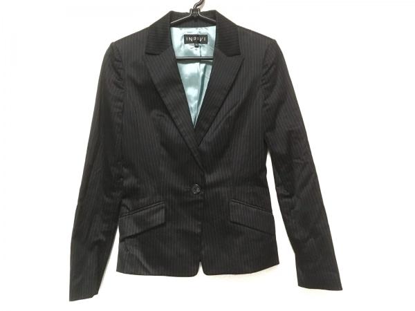 INDIVI(インディビ) ジャケット サイズ36 S レディース美品  黒 ストライプ