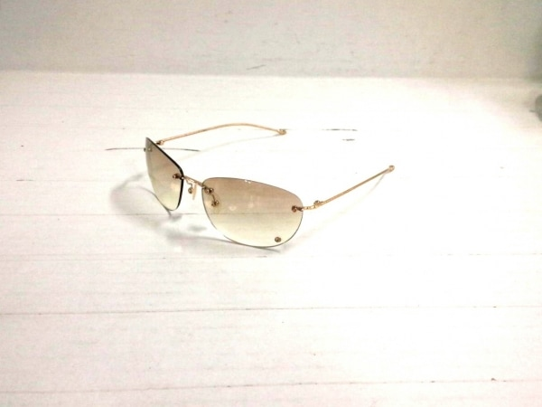 ジョルジオアルマーニ サングラス ブラウン×ゴールド プラスチック×金属素材