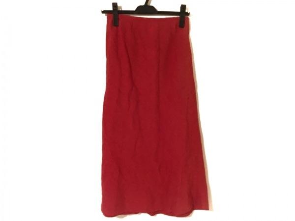 agnes b(アニエスベー) ロングスカート サイズ38 M レディース美品  レッド