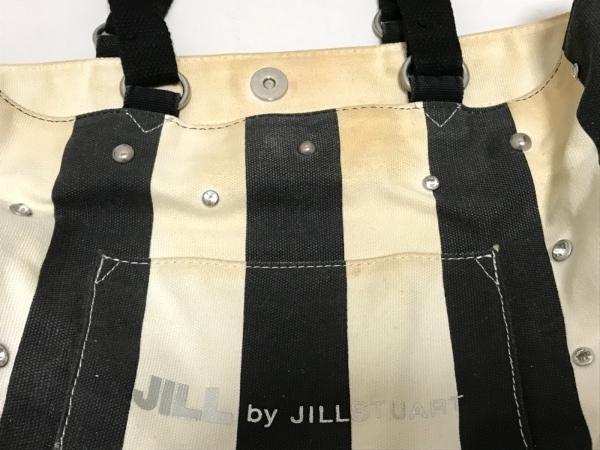 ジルバイジルスチュアート トートバッグ 黒×白 ストライプ/スタッズ
