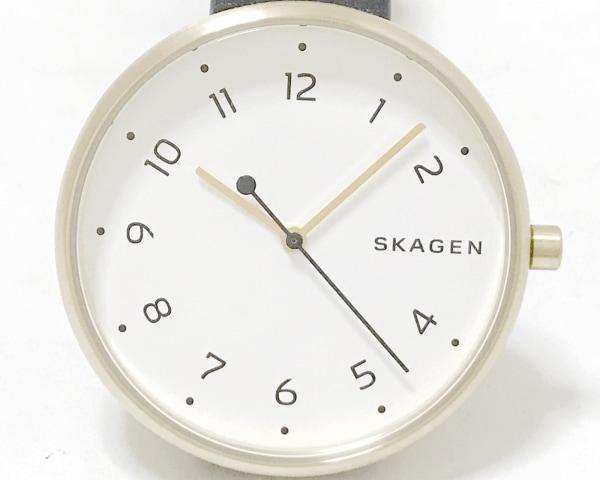 SKAGEN(スカーゲン) 腕時計 SKW2626 レディース 革ベルト 白