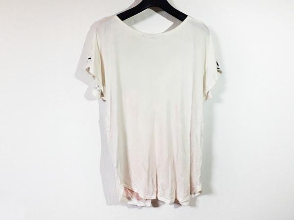 ツモリチサト 半袖カットソー レディース美品  アイボリー×黒×ピンク