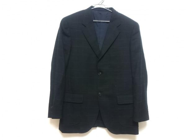 VAN(バン) ジャケット メンズ ダークネイビー×ブルー 肩パッド/チェック柄