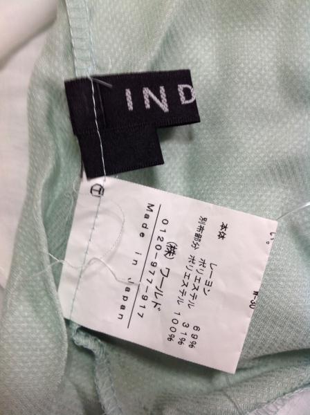 INDIVI(インディビ) チュニック レディース ライトグリーン×アイボリー