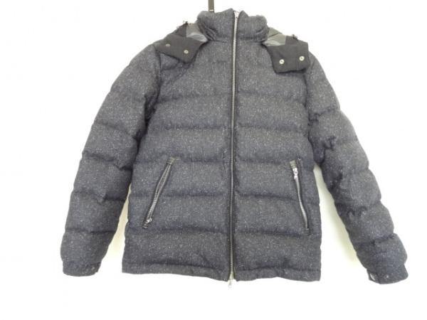 エディフィス ダウンジャケット サイズ48 XL レディース ダークネイビー×黒×白 冬物