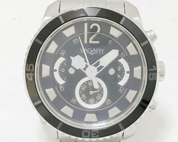VAGARY(ヴァガリー) 腕時計 J523-336802 メンズ クロノグラフ ダークネイビー