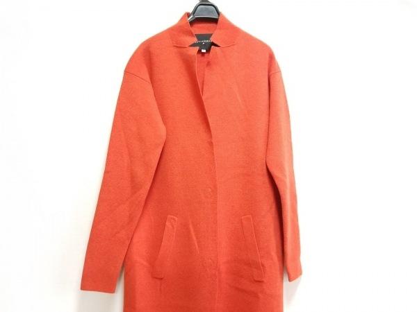 ビーティングハート コート サイズ2 M レディース美品  オレンジ ニット/春・秋物