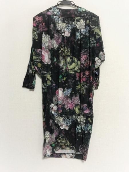 PaulSmith(ポールスミス) ワンピース サイズM レディース 黒×白×マルチ 花柄