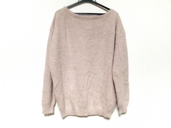 whim gazette(ウィムガゼット) 長袖セーター サイズF レディース美品  ピンク×白