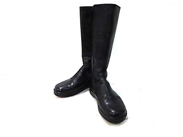Footprints(フットプリンツ) ロングブーツ 24538 レディース 黒 サイドゴア レザー