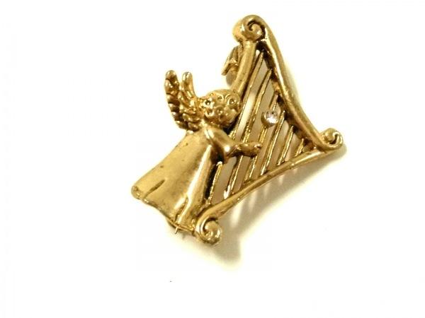 TSUMORI CHISATO(ツモリチサト) ブローチ 金属素材 ゴールド ラインストーン