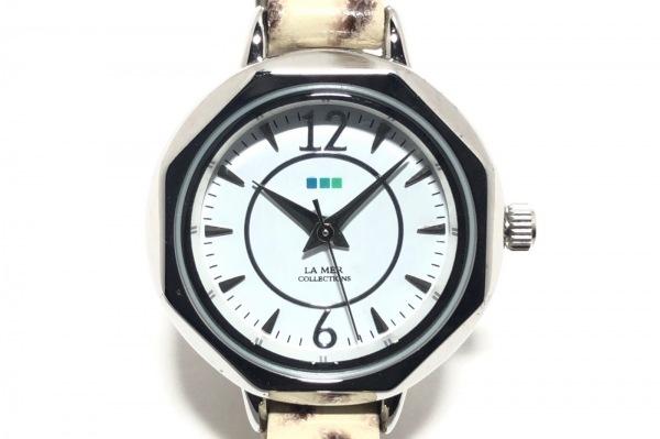 LA MER COLLECTIONS(ラメール) 腕時計 - レディース スタッズ/チェーンベルト 白