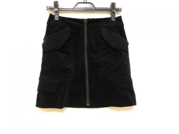 LE CIEL BLEU(ルシェルブルー) スカート サイズ36 S レディース美品  黒 ベロア